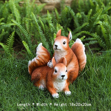 Load image into Gallery viewer, Simulation Squirrel Statue Garden Decoration Outdoor Lawn Tree Hanging Sculpture Home Gardening Animal Statue Garden Decor Craft