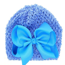 Load image into Gallery viewer, MAYA STEPAN 1 Pieces New FashionBow Hollow Baby Girls Hat Newborn Elastic Baby Turban Hats For Girls Cotton Infant Beanie Cap