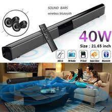 Load image into Gallery viewer, Wireless Bluetooth Soundbar Stereo Speaker Home Theater TV Sound Bar Subwoofer Music Player