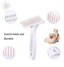 Load image into Gallery viewer, SUPERPET White Rake Comb for Dogs  Brush Short Long Hair Fur Shedding Remove Cat Dog Brush Grooming Tools Pet Dog Supplies