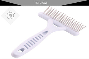 SUPERPET White Rake Comb for Dogs  Brush Short Long Hair Fur Shedding Remove Cat Dog Brush Grooming Tools Pet Dog Supplies