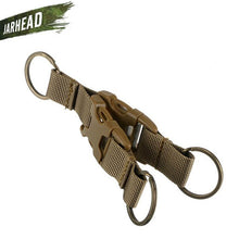 Load image into Gallery viewer, High Quality Tactical Multifunction Buckle Double Key Chain Outdoor Nylon Quick Release Buckle Keyring Backpack Belt Hook