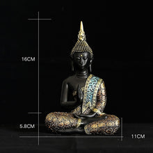 Load image into Gallery viewer, Buddha Statue Thailand Buddha Sculpture Green Resin Hand Made Buddhism Hindu Fengshui Figurine Meditation Home Decor