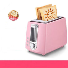 Load image into Gallery viewer, 2-Slice Stainless Steel Electric Toaster Household Automatic Bread Baking Maker Breakfast Machine Toast Sandwich Grill Oven