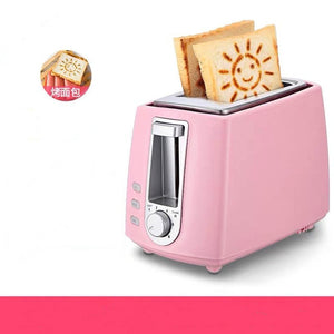 2 Slice Stainless Steel Electric Toaster Household Automatic Bread Baking Maker Breakfast Machine Toast Sandwich Grill Oven