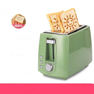 2-Slice Stainless Steel Electric Toaster Household Automatic Bread Baking Maker Breakfast Machine Toast Sandwich Grill Oven
