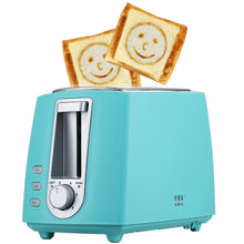 Load image into Gallery viewer, 2 Slice Stainless Steel Electric Toaster Household Automatic Bread Baking Maker Breakfast Machine Toast Sandwich Grill Oven