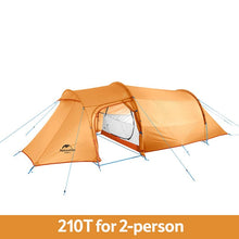 Load image into Gallery viewer, Naturehike Opalus Tunnel Tent Large Space 2 3 4 Person Camping Tents High Quality 20D/210T Fabric Camping Tent W/ Free Footprint