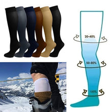 Load image into Gallery viewer, Unisex Socks Compression Stockings Pressure Varicose Vein Stocking knee high Leg Support Stretch Pressure Circulation