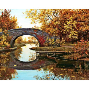 DIY Painting By Numbers Hand-Painted Oil Painting Landscape Picture Paint Drawing On Canvas Home Decoration Unique Gift