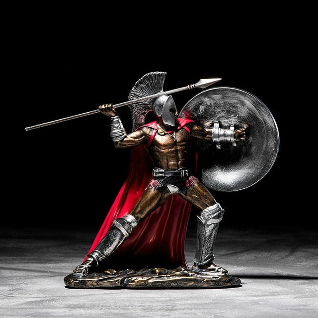 Ancient Rome Ornament Retro Spartan Character Model Resin Craft Figurines Home Decor Spartan Warrior Statue Figure Decorate Gift