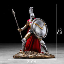 Load image into Gallery viewer, Ancient Rome Ornament Retro Spartan Character Model Resin Craft Figurines Home Decor Spartan Warrior Statue Figure Decorate Gift