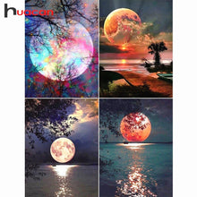 Load image into Gallery viewer, Diamond Painting Full Square Drill Moon Rhinestones Pictures Diamond Embroidery Sale Scenic Cross Stitch Mosaic Gift