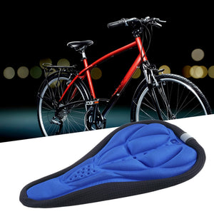 Men's and Women's Thick Bike Mountain Bike Sponge Pad Cover Soft Cover Bicycle Seat Outdoor Bicycle Sports Protection Pad 3 Colo