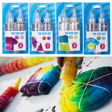 Load image into Gallery viewer, DIY With Gloves Textile Paint Non Toxic Tie Dye Kit Adults Kids Fabric Decorating Pigment Cotton Linen Cold Water Accessories