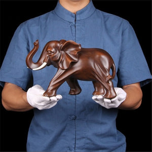 Elephant Handmade Crafts Decoration Home Living room office Animal Statue High quality Ornaments Gift