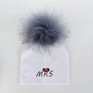 newborn cotton hats  baby pom pom  photo props mrs mr children's kids hat  boy accessories toddler girl cap bonnet  baby hats