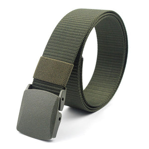 Adjustable Belts Military Style Nylon Belt Tactical Waist Belt with Plastic Buckle Men Outdoor Travel Belts 130cm