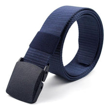 Load image into Gallery viewer, Adjustable Belts Military Style Nylon Belt Tactical Waist Belt with Plastic Buckle Men Outdoor Travel Belts 130cm