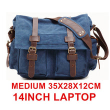 Load image into Gallery viewer, Burminsa Canvas Leather Men Messenger Bags I AM LEGEND Will Smith Big Satchel Shoulder Bags Male Laptop Briefcase Travel Handbag
