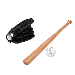 25-Inch Solid Wood Beech Baseball Bat 10.5-Inch Baseball Glove Baseball Three-In-One Combination Suit Children