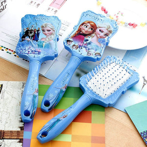 Disney Frozen Comb 3D Mickey Minnie Comb Elsa Anti-static Air Cushion Hair Care Brushes Baby Girls Dress Up Makeups Toy Gifts