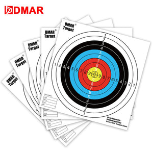 DMAR 30pcs 40cm Standard Archery Target Paper Reinforced Shooting Paper Hunting Archery Accessories Arrow Recurve Compound bow
