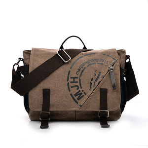 Man Canvas Messenger Bags Duffle Tote Travel Shoulder Bag High Quality Tote Bolsa Crossbody Bags Zipper Travel Leisure Handbag