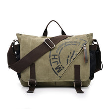 Load image into Gallery viewer, Man Canvas Messenger Bags Duffle Tote Travel Shoulder Bag High Quality Tote Bolsa Crossbody Bags Zipper Travel Leisure Handbag