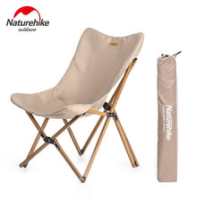 Load image into Gallery viewer, Naturehike Ultralight Wood Grain Aluminum Alloy Fishing Chair Portable Outdoor Camping Chair Beach Picnic BBQ Folding Stool