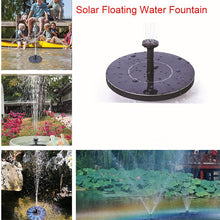 Load image into Gallery viewer, Mini Solar Fountain Solar Water Fountain Garden Pool Pond Outdoor Solar Panel  Garden Decoration