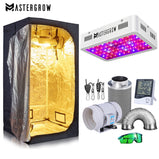 "1000W Grow Tent Room Complete Kit Hydroponic Growing System LED Grow Light + 4""/ 6"" Carbon Filter Combo Multiple Size Dark Room"
