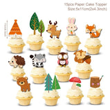 Animals Tableware Woodland Party Birthday Party Decoration Kids Forest Safari Jungle Party Supplies Baby Shower