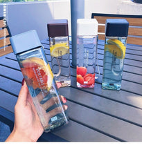 Load image into Gallery viewer, Cool Square Water Cap Cup 500ml for Water Bottles Drink with Rope Transparent Sport Heat Resistant Plastic