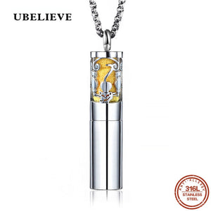 Stainless Steel Vintage Aromatherapy Perfume  Diffuses Essential Oils Necklace Storage Locket Pendant