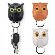 Load image into Gallery viewer, 1 PCS Owl Night Wall Magnetic Key Holder Magnets Hold Keychain Key Hanger Hook Hanging Key Will Open Eyes