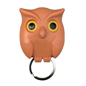 1 PCS Owl Night Wall Magnetic Key Holder Magnets Hold Keychain Key Hanger Hook Hanging Key Will Open Eyes