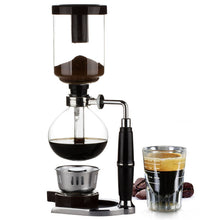 Load image into Gallery viewer, Japanese Style Siphon coffee maker Tea Siphon pot vacuum coffeemaker glass type coffee machine filter kahve makinas 3cup
