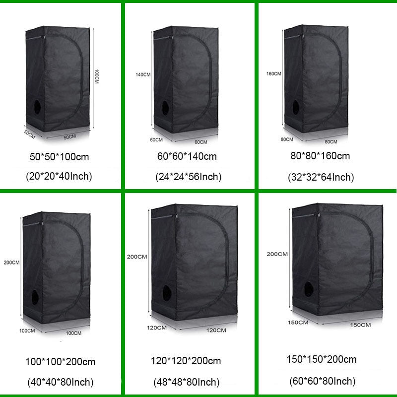 Indoor Hydroponics Grow Tent Reflective Mylar Grow Room Box Led Grow Plant Light Garden Greenhouses