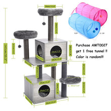 Load image into Gallery viewer, Fast Shipping Pet Cat Tree Tower Toy Scratching Posts for Cat Wood Climbing Tree Jumping Cat Furniture Cat House Condo Nest
