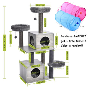 Fast Shipping Pet Cat Tree Tower Toy Scratching Posts for Cat Wood Climbing Tree Jumping Cat Furniture Cat House Condo Nest