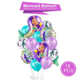 Romantic Little Mermaid Party Supplies Mermaid Birthday Party Favors First Birthday Girl Party Mermaid Decor Baby Shower