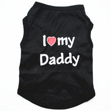 Load image into Gallery viewer, Classic Dog Mommy & Love Daddy Print T-Shirt, Puppy and Cat Tank Top, Small Dog Clothes
