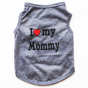 Classic Dog Mommy & Love Daddy Print T-Shirt, Puppy and Cat Tank Top, Small Dog Clothes