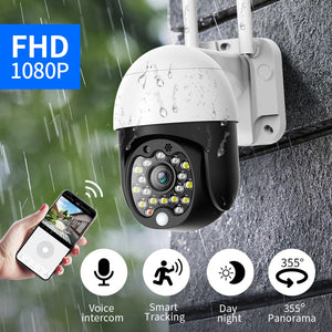 1080p WIFI camera outdoor security camera PTZ dome wireless CCTV IP camera pan 4 times zoom audio infrared monitoring P2P