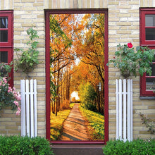 Load image into Gallery viewer, DIY Self-adhesive Natural Scenery Door Wallpaper Home Decor Waterproof Removable Poster Stickers on the Doors Wall Decal