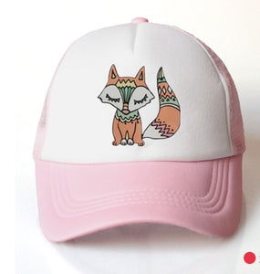 baby girl baseball cap animal boho foxhat cap accessories for 3-8 years girls   summer sun truck hat cap for kids children