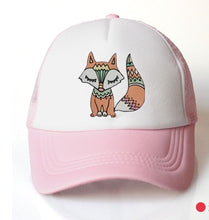 Load image into Gallery viewer, baby girl baseball cap animal boho foxhat cap accessories for 3-8 years girls   summer sun truck hat cap for kids children