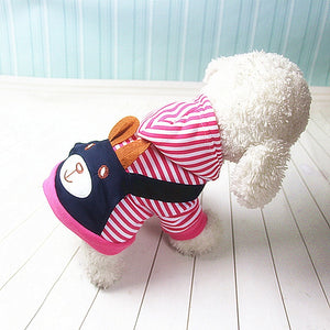 Fashionable Striped Pet Dog Clothes for Dogs Coat Hoodie Sweatshirt Winter Ropa Perro Dog Clothing Cartoon Pets Clothing