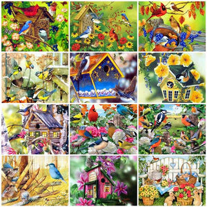 Picture By Numbers Bird Animal Hand Painted Diamond Painting DIY Gift Home Decoration Kit Drawing On Canvas Wall Art